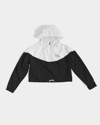 Malcolm X, Black And White - Cropped Windbreaker