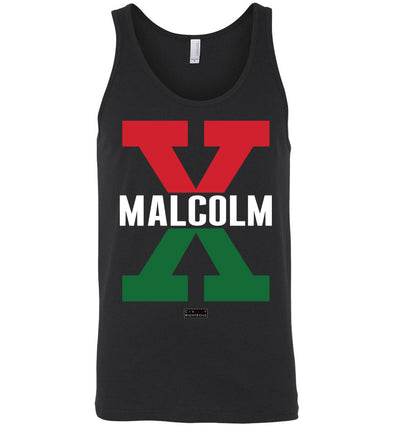 Malcolm X, Red and Green - Unisex Tank Top