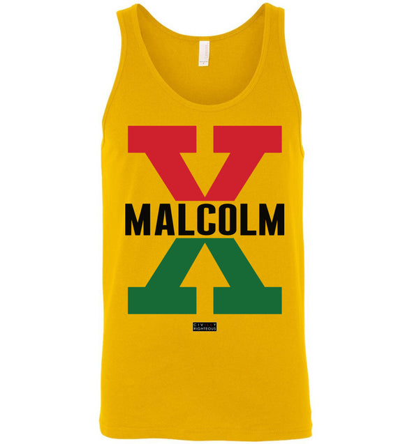 Malcolm X, Red and Green II - Unisex Tank Top