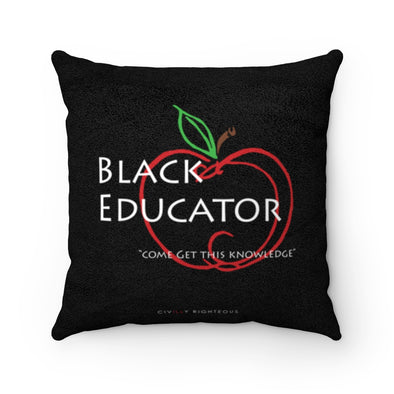 Black Educator - Faux Suede Pillow