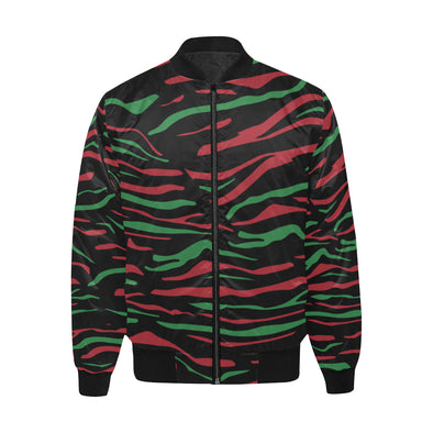 Tribal Print - Quilted Bomber Jacket