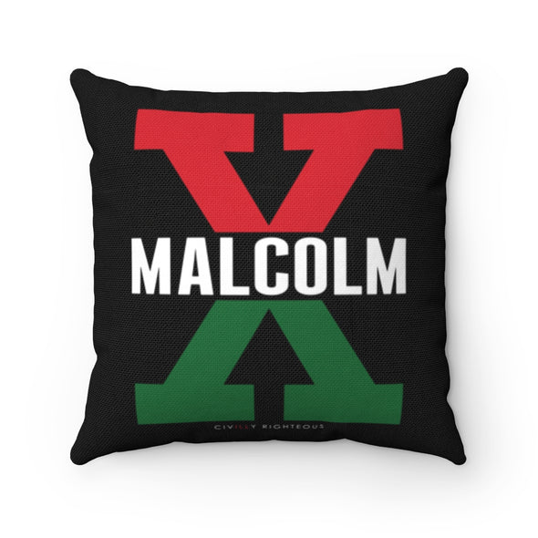 Malcolm X, Red and Green - Spun Polyester Pillow Case