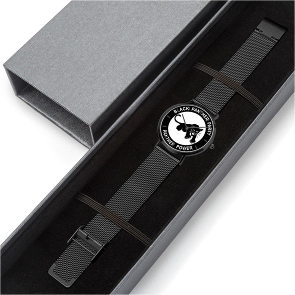 Black Panther Party - Thin Stainless Steel Quartz Watch