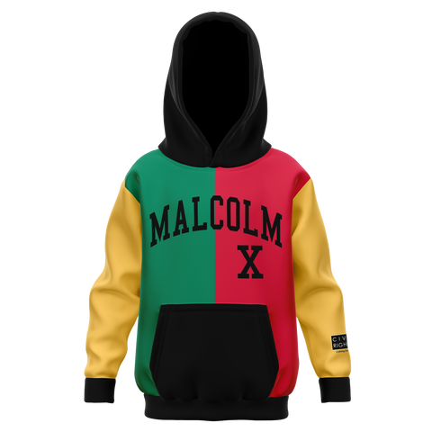 Malcolm X, Color Block - Youth AOP Hoodie