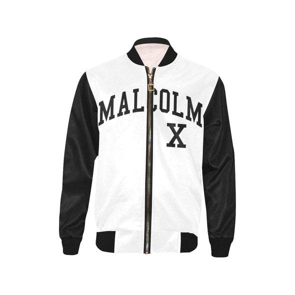 Malcolm X, Black and White - Youth Bomber Jacket