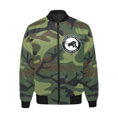 Black Panther Party, Camo - Quilted Bomber Jacket