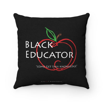 Black Educator - Spun Polyester Pillow