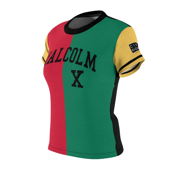 Malcolm X, Color Block - Ladies Pullover Jersey