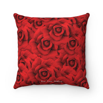 Rose From Nothing - Faux Suede Pillow