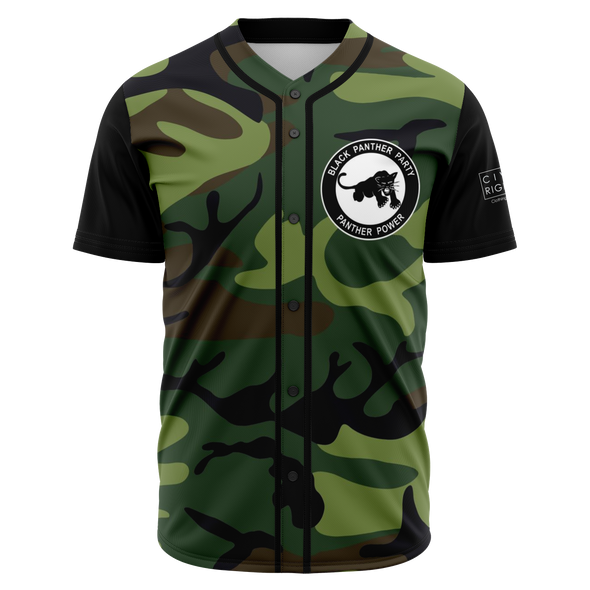 Black Panther Party, Camo - Baseball Jersey