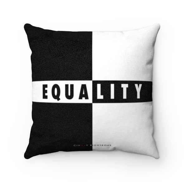 Equality - Faux Suede Pillow