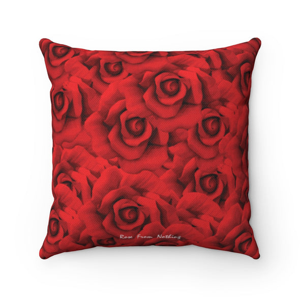 Rose From Nothing - Spun Polyester Pillow Case