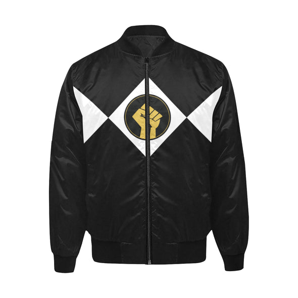 Black Power Fist - Quilted Bomber Jacket