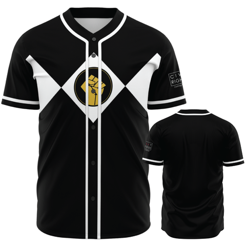 Black Power Fist - Baseball Jersey