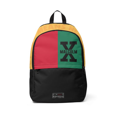 Malcolm X, Color Block - Classic Backpack