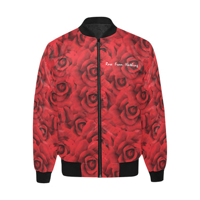 Rose From Nothing - Quilted Bomber Jacket
