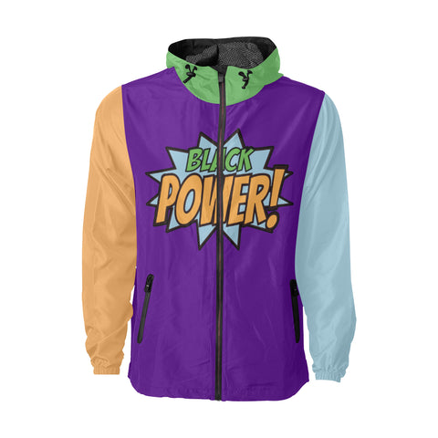 Black Power! - Purple - Windbreaker