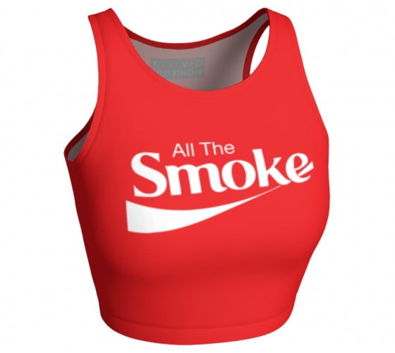 All The Smoke - Sleeveless Crop Top