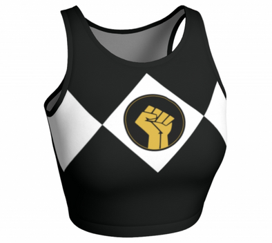 Black Power Fist - Sleeveless Crop Top