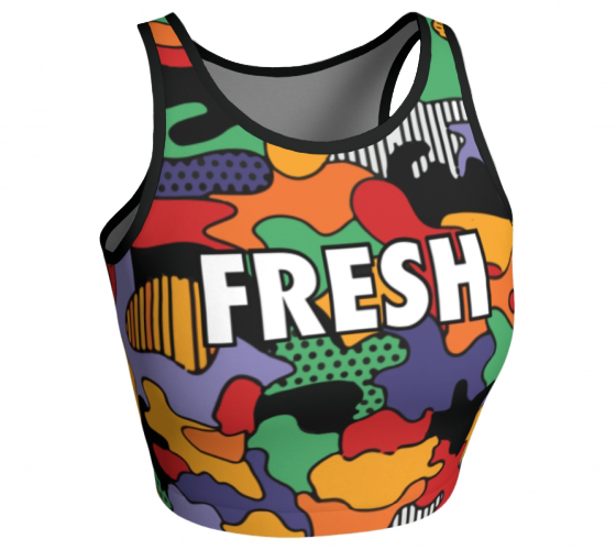 Fresh Princess - Sleeveless Crop Top
