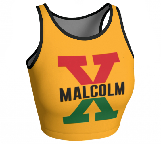 Malcolm X, Red and Green II - Sleeveless Crop Top