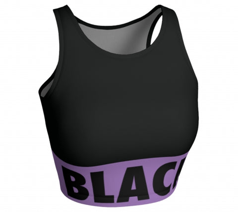 Black & Proud - Sleeveless Crop Top