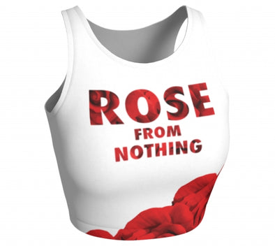 Rose From Nothing - Sleeveless Crop Top