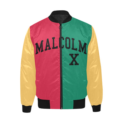 Malcolm X, Color Block - Quilted Bomber Jacket
