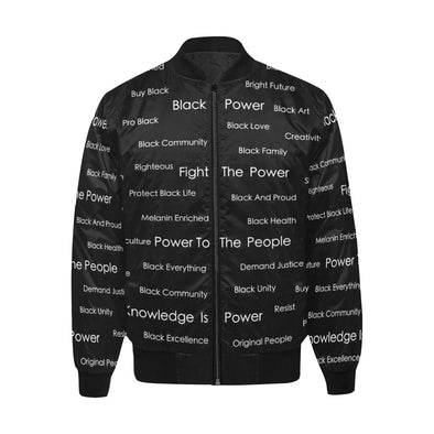 Blackity Black - Quilted Bomber Jacket