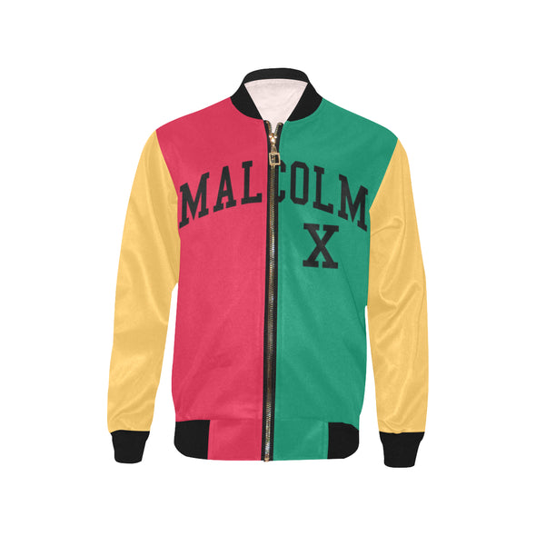 Malcolm X, Color Block - Youth Bomber Jacket
