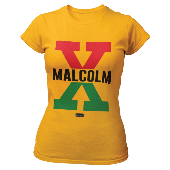 Malcolm X, Red and Green II - Ladies T Shirt