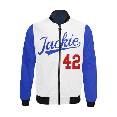 Jackie Robinson, Blue and White - Big & Tall Bomber Jacket