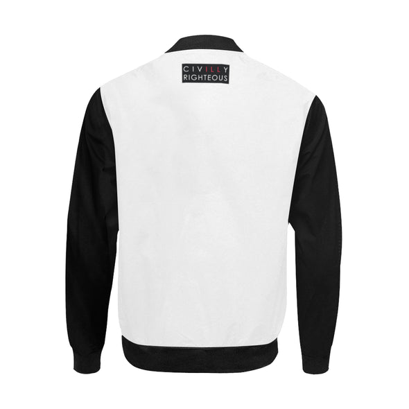 Malcolm X, Black and White - Big & Tall Bomber Jacket