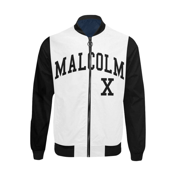 Malcolm X, Black and White - Lightweight Bomber Jacket