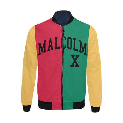 Malcolm X, Color Block - Lightweight Bomber Jacket