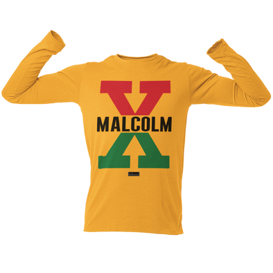 Malcolm X, Red and Green II - Unisex Long Sleeve
