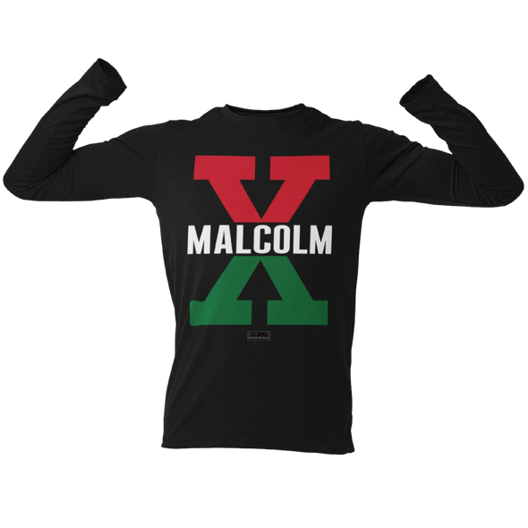 Malcolm X, Red and Green - Unisex Long Sleeve