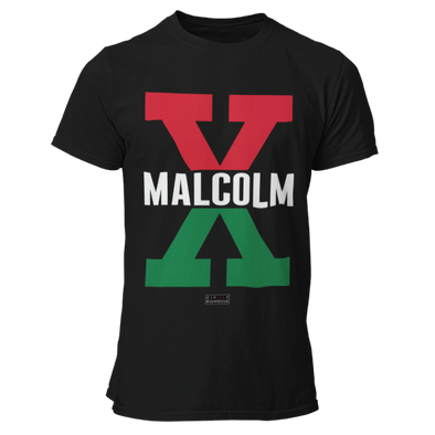 Malcolm X, Red and Green - Unisex T Shirt