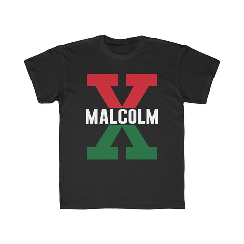 Malcolm X, Red and Green - Youth T Shirt