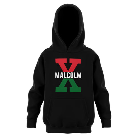 Malcolm X, Red and Green - Youth Hoodie