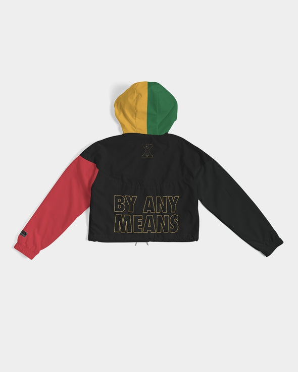 Malcolm X, 4 Square - Cropped Windbreaker