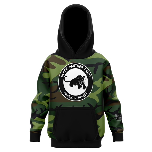 Black Panther Party, Camo - Youth AOP Hoodie