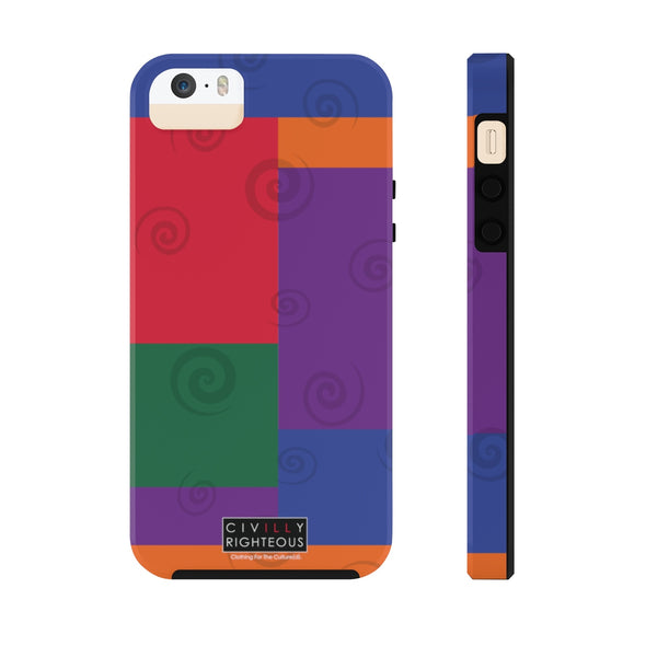 Retro, Color Block - Phone Case