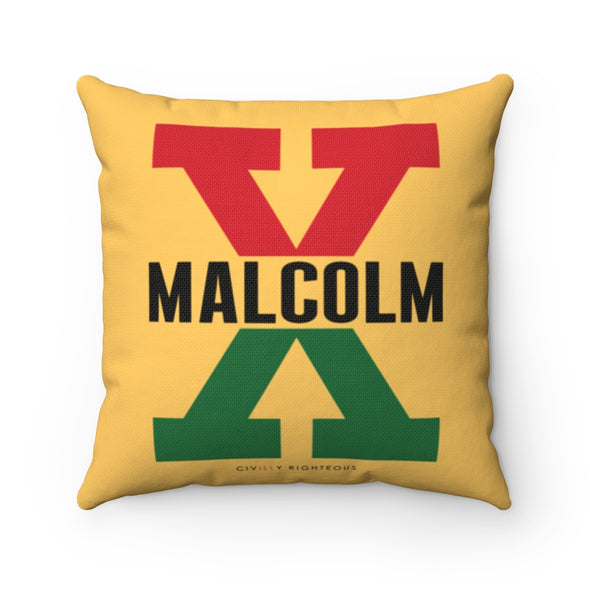Malcolm X, Red and Green II - Spun Polyester Pillow Case