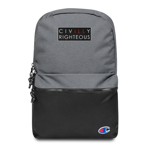 Civilly Righteous Logo - Champion Backpack