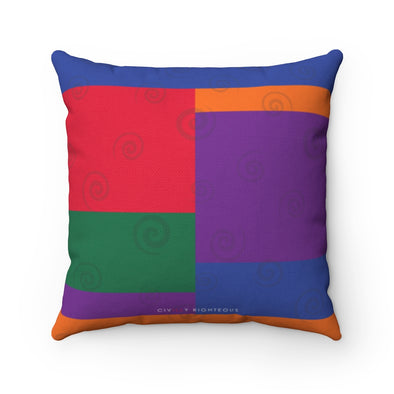 Retro, Color Block - Spun Polyester Pillow
