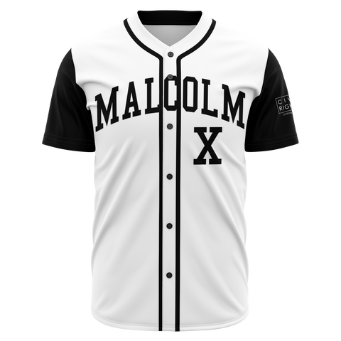 Malcolm X, Black and White - Baseball Jersey