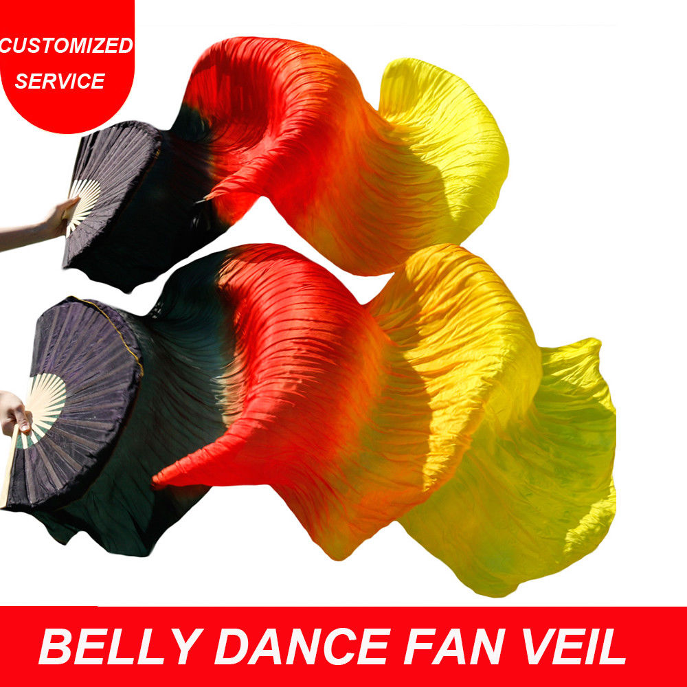 2fecc3684 New 1.5/1.8m Belly Dance Chinese Real Silk Fan Veils – Nimiman