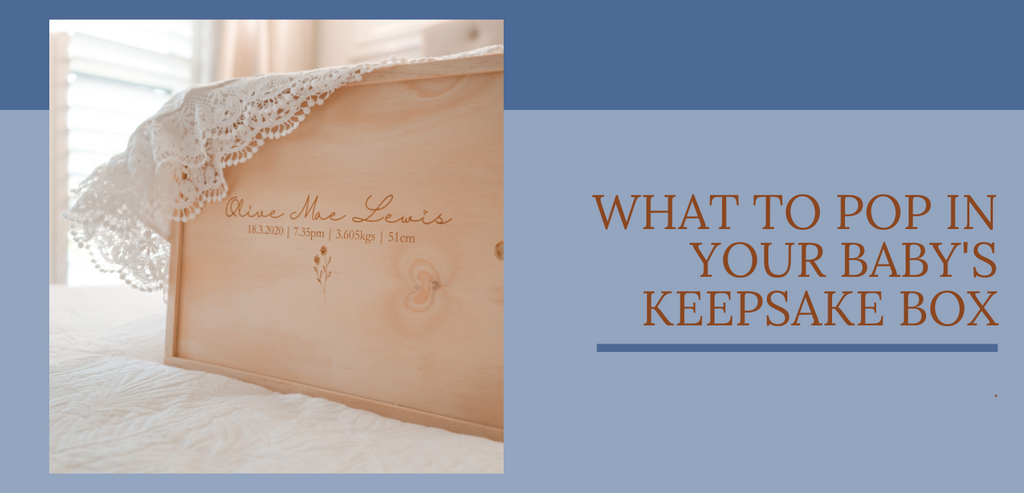 What to include in a baby keepsake box