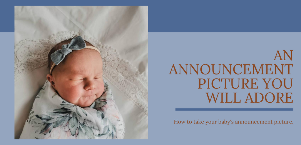 How to take an announcement picture you will adore